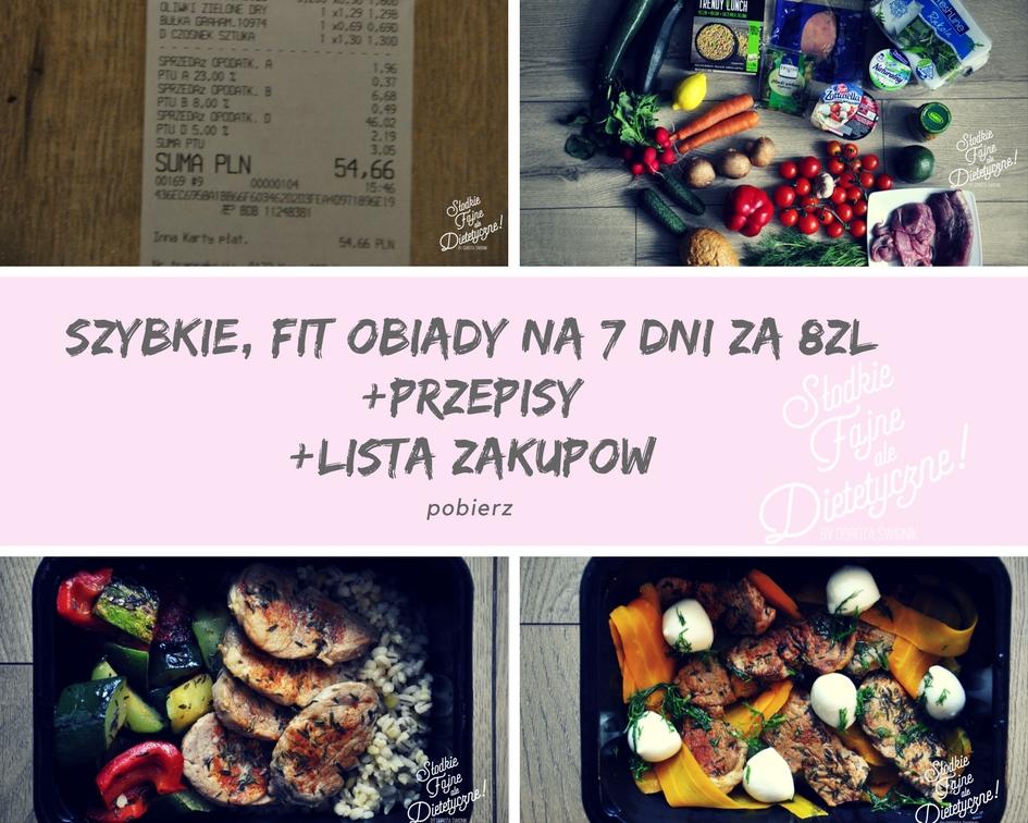 zdrowe, szybkie obiady z listą zakupów