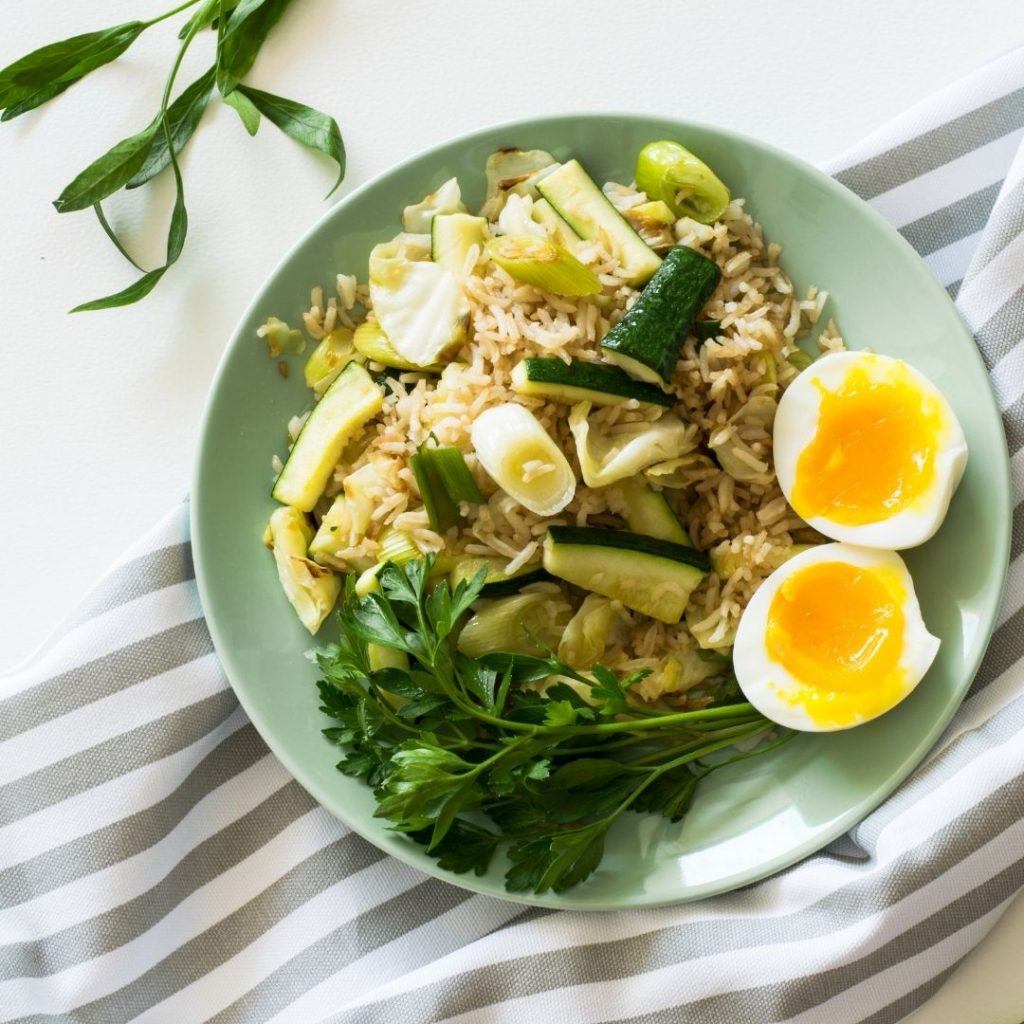 pół talerza warzyw